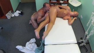 Beautiful redhead prescribed cock by her doctor