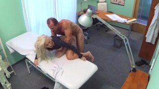 Dirty doctor fucks the busty blond porn star